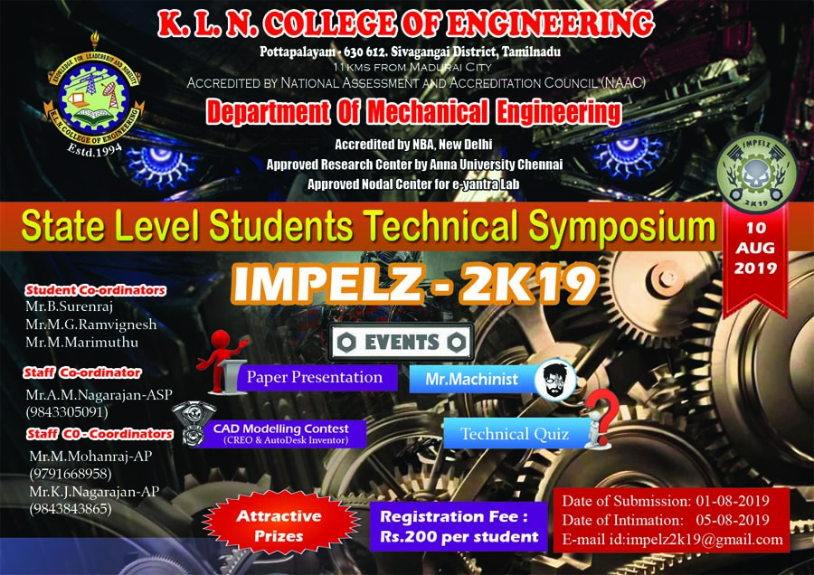 K L N  College of Engineering ::: KLNCE